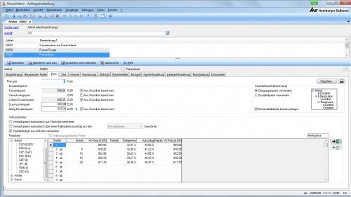 Schneller Einstieg in die Auftragsbearbeitungssoftware dankumfangreicher Voreinstellungen