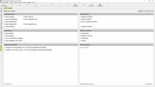 Handwerkersoftware MOS'aik Startseite