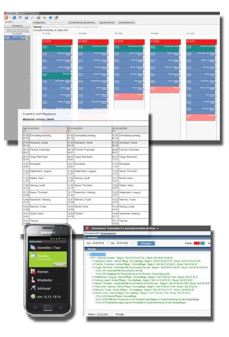 Tourenplan & Mobile Erfassung