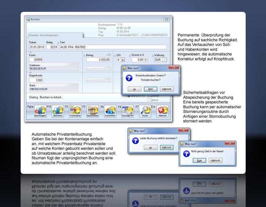 2. Produktbild fibuman - Finanzbuchhaltung - Buchhaltungssoftware