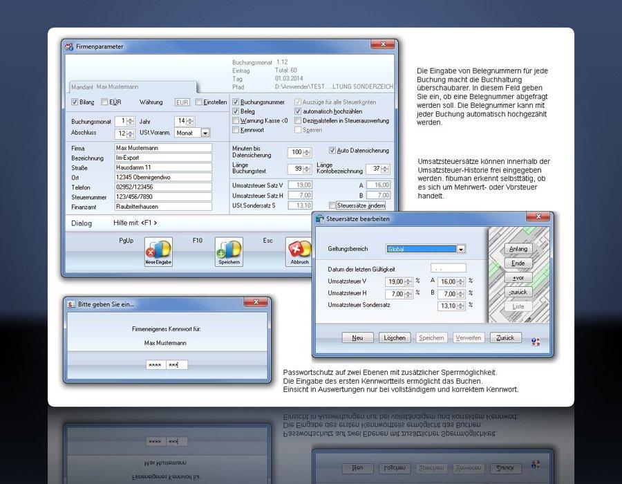 3. Produktbild fibuman - Finanzbuchhaltung - Buchhaltungssoftware