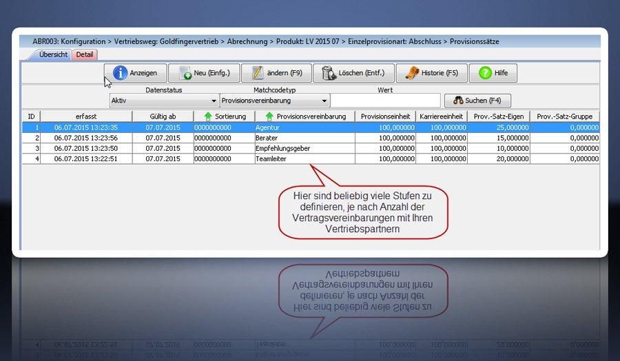 4. Produktbild FABIS Provisionsabrechnung Provisionssystem