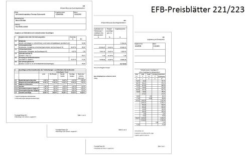 EFB-Preisblätter 221/223