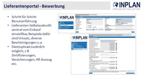 INPLAN PRO Lieferantenportal
