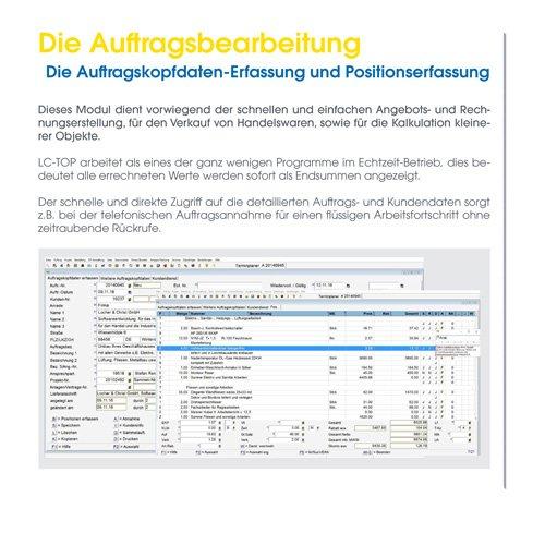 10. Produktbild LC-TOP - Handwerkersoftware für die Auftragsbearbeitung