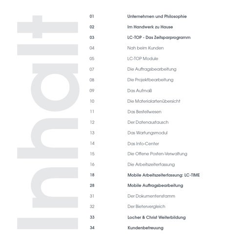 3. Produktbild LC-TOP - Handwerkersoftware für die Auftragsbearbeitung
