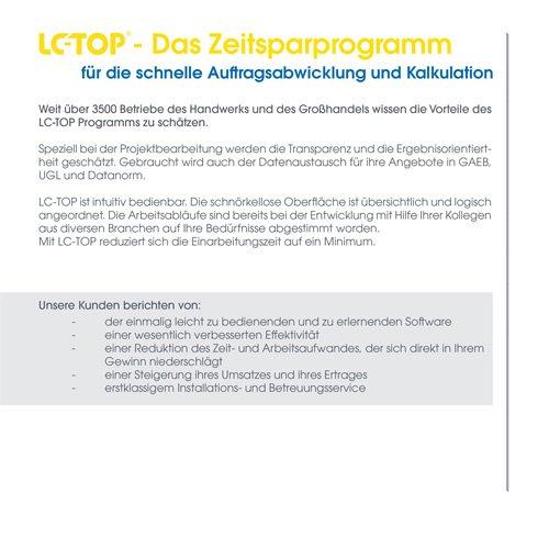 6. Produktbild LC-TOP - Handwerkersoftware für die Auftragsbearbeitung