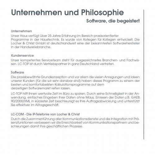 Unternehmen und Philosophie