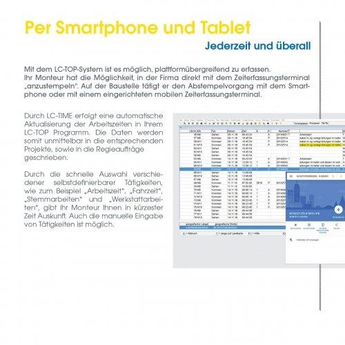Per Smartphone und Tablet
