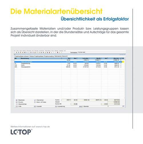 13. Produktbild LC-TOP - Kalkulationssoftware für GAEB
