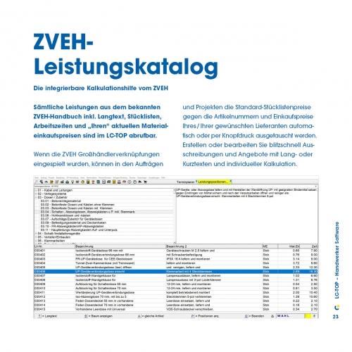 ZVEH-Leistungskatalog