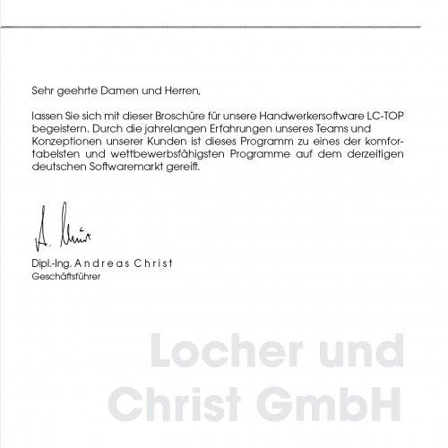 Vorwort Locher & Christ GmbH