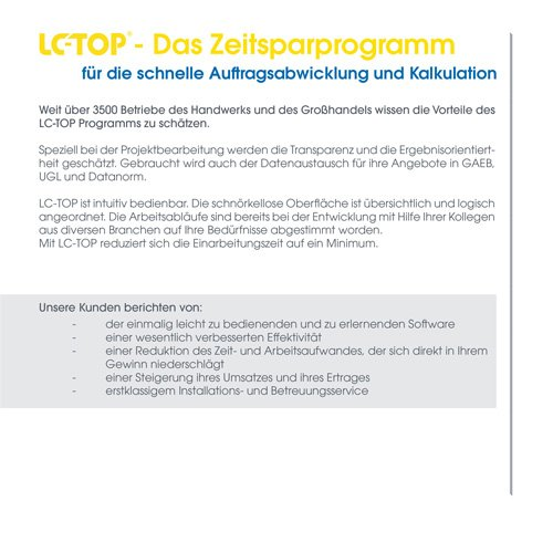 6. Produktbild LC-TOP Mobil - Handwerksprogramm zur mobilen Auftragsbearbeitung