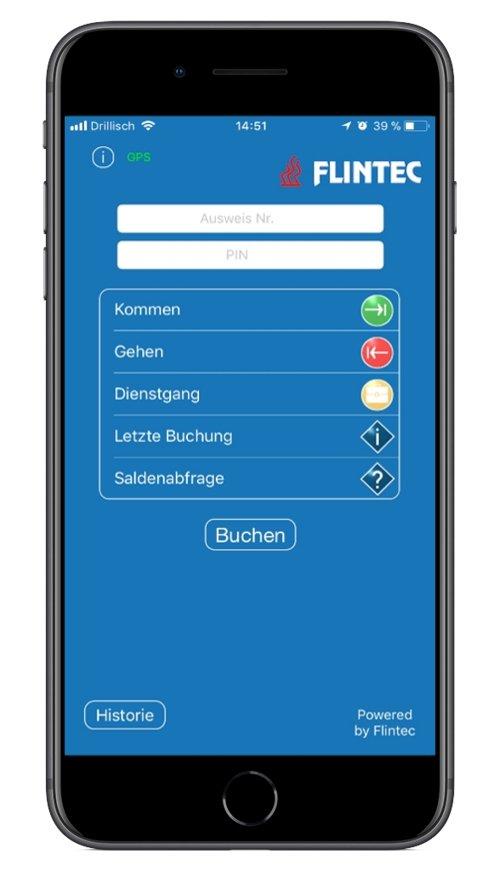 Flintec mobile Zeiterfassung: iOS App