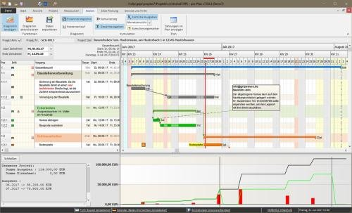 2. Produktbild pro-Plan - für die Projektplanung und Bauzeitenplanung
