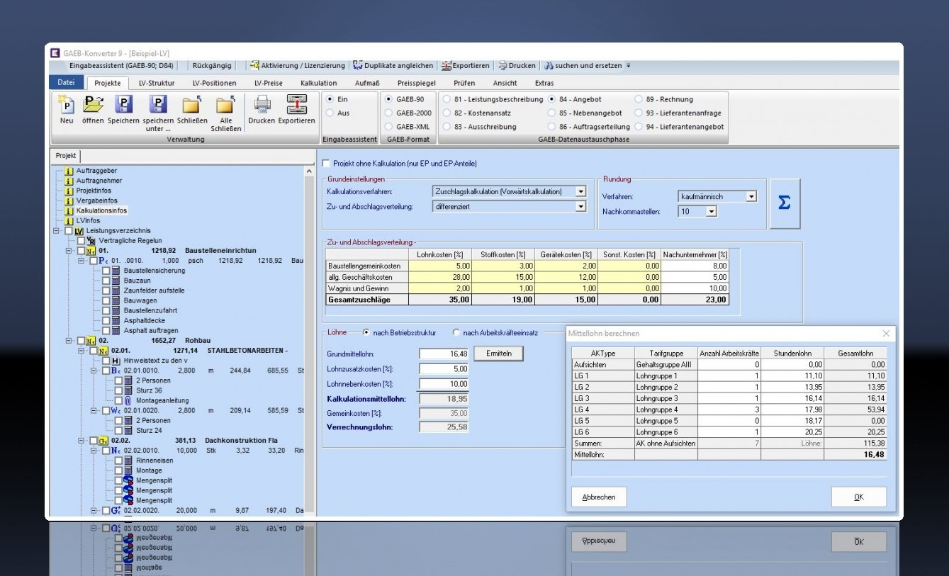 Software Gaeb Konverter önorm Reb