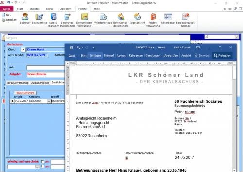 1. Produktbild Tau-Office BetreuungsBehörde