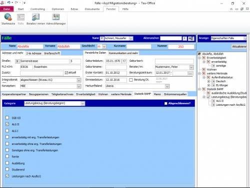 Software: Tau-Office Fehlbeleger Abrechnung - Familienverbände ...