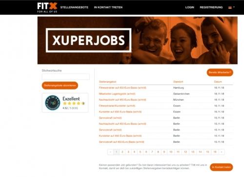 Stellenanzeigen und Karriereseite