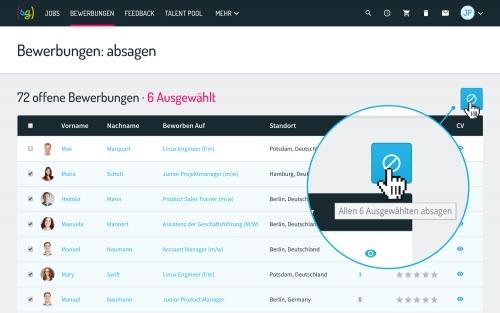 Bewerbermanagement Software: Bewerber automatisch absagen