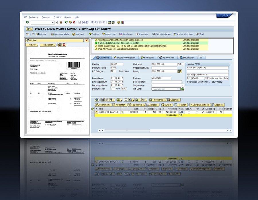 1. CLARC INVOICE FOR SAP - Center