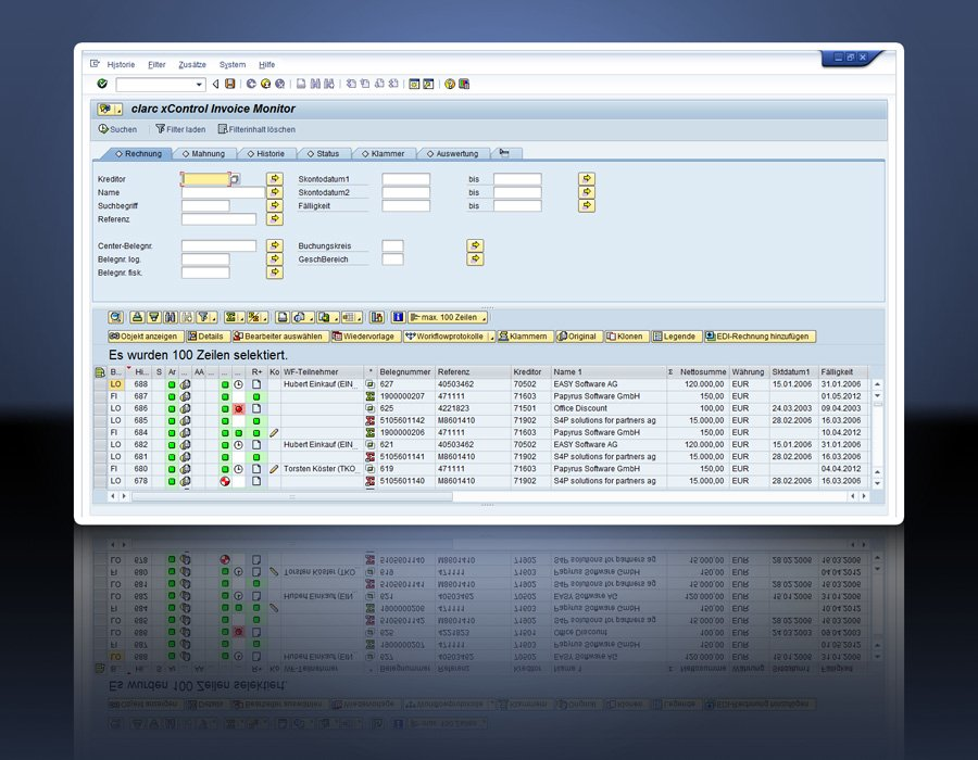 2. CLARC INVOICE FOR SAP - Monitor