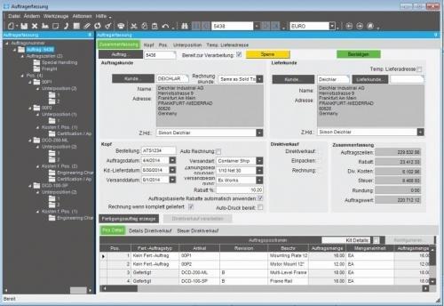 Epicor ERP 10 Auftragserfassung