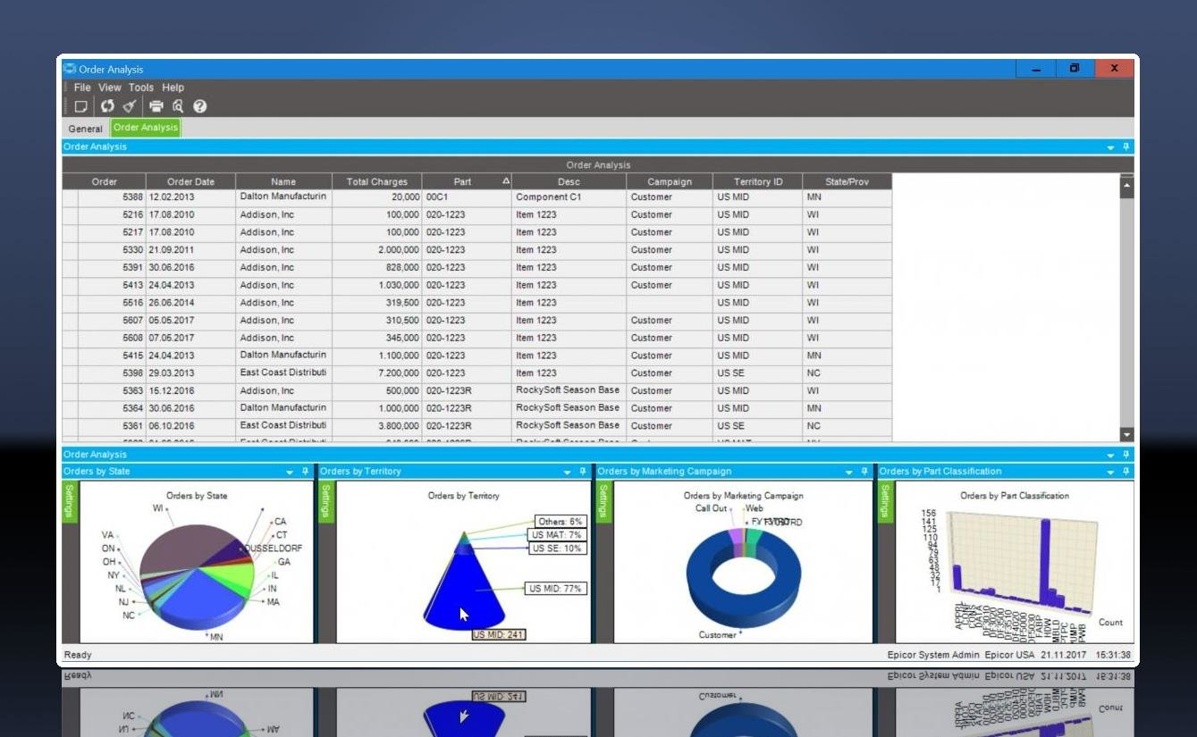 Epicor ERP Dashboard 1