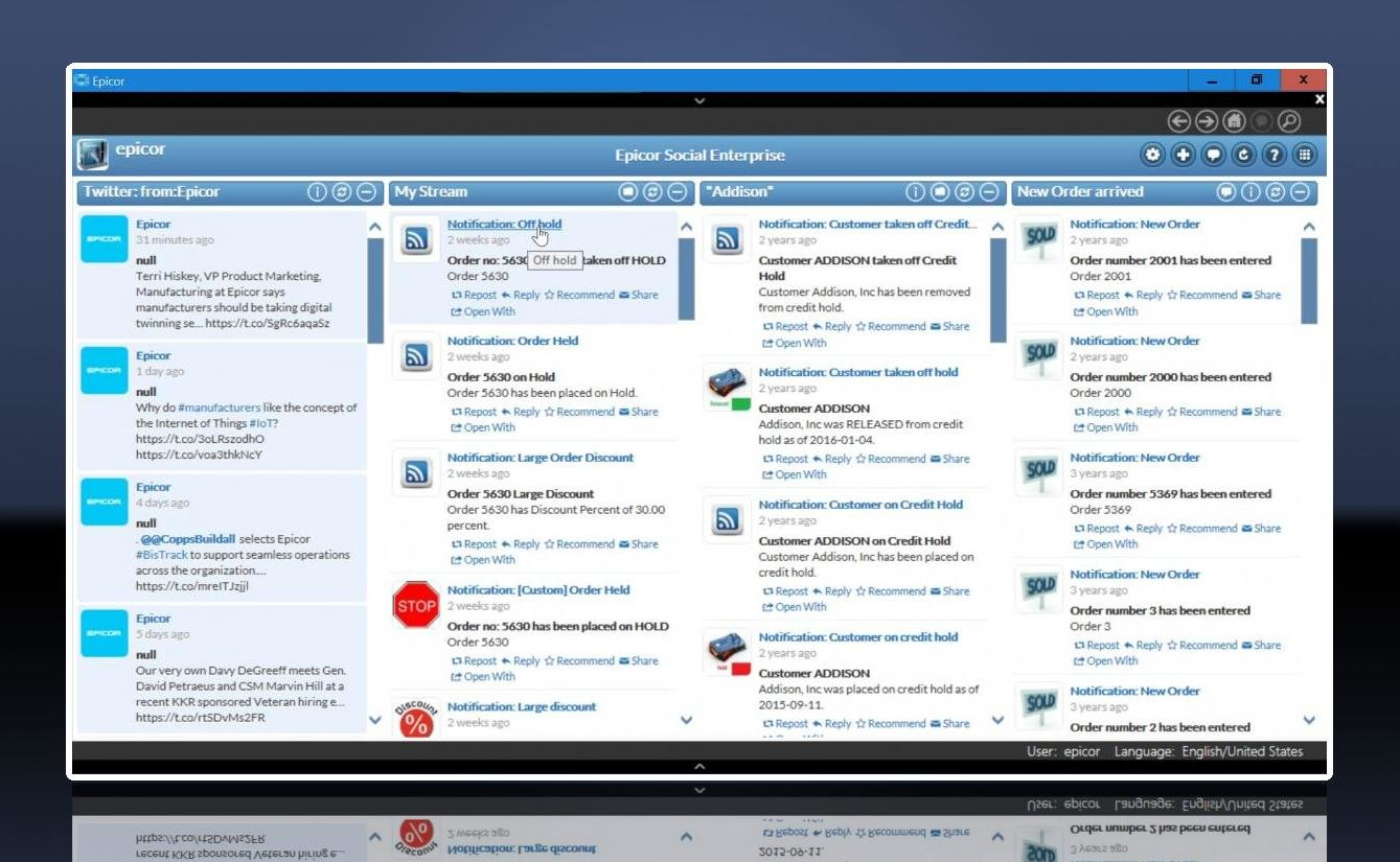 Epicor ERP 10 Social Media