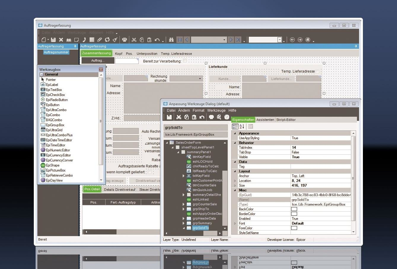 Epicor ERP 10 Customization Mode