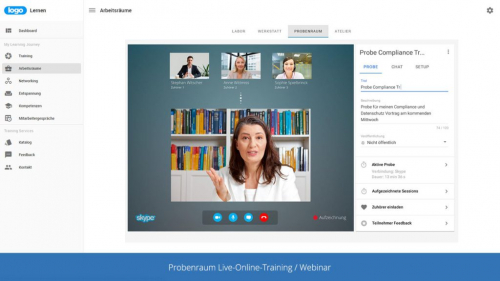 IBT Live Collaboration für Videokonferenzen und Live-Online-Trainings