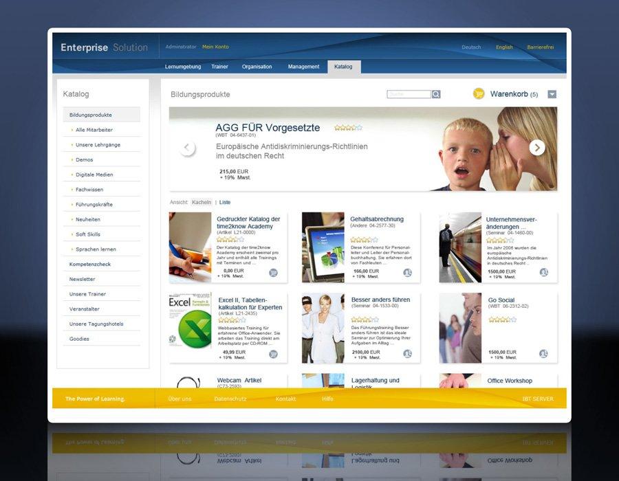 1. Produktbild IBT SERVER-Software für Lern- und Trainingsmanagement
