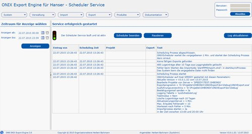 ONIX Export Engine 3.0: Scheduler Service