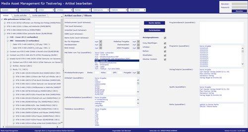 BARKMANN Media Asset Management: Suche nach Verlagsprodukten als Zugang zu Assets