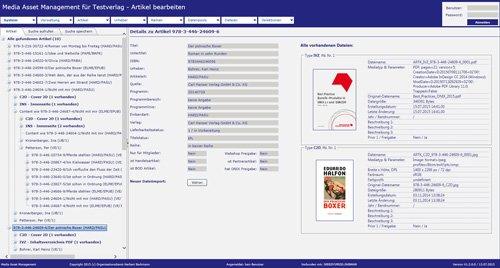 BARKMANN Media Asset Management: Detailansicht Assets zu Produkten