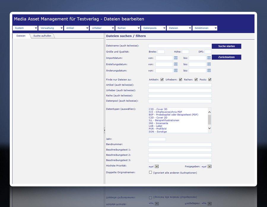 BARKMANN Media Asset Management: Asset-Direktsuche