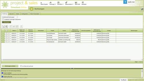 5. Produktbild Project & Sales Timesheet Online