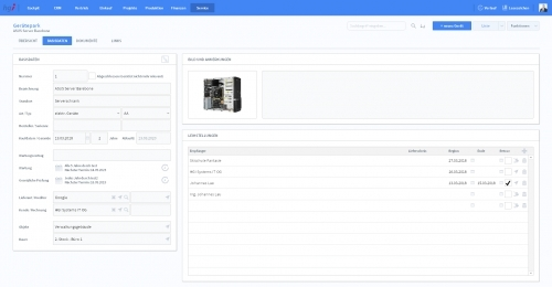 Gerätepark - Basisdaten