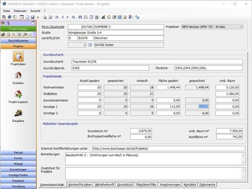 4. Produktbild AMADEUS iX - Kaufmännisches Projektmanagement für Bauträger