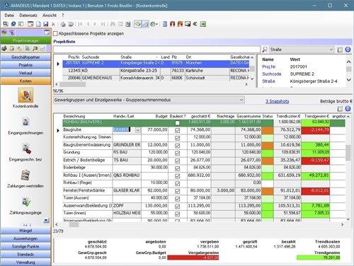 7. Produktbild AMADEUS iX - Kaufmännisches Projektmanagement für Bauträger