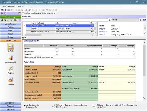 9. Produktbild AMADEUS iX - Kaufmännisches Projektmanagement für Bauträger