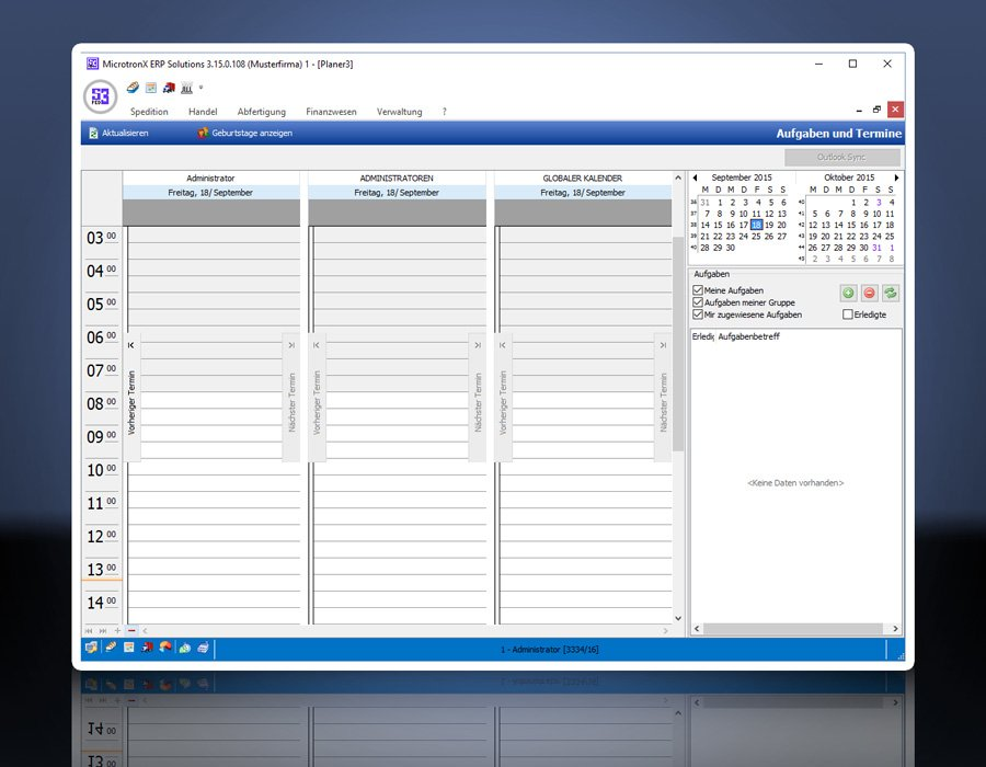 7. Produktbild MicrotronX ERP - Speditionssoftware