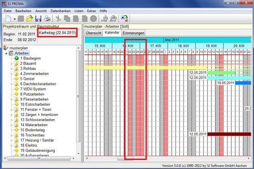 6. Produktbild SJ PROMA - zur Erstellung eines Bauzeitenplan