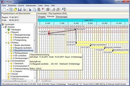 1. Produktbild SJ PROMA - zur Erstellung eines Bauzeitenplan