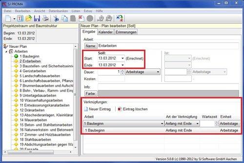 3. Produktbild SJ PROMA - zur Erstellung eines Bauzeitenplan