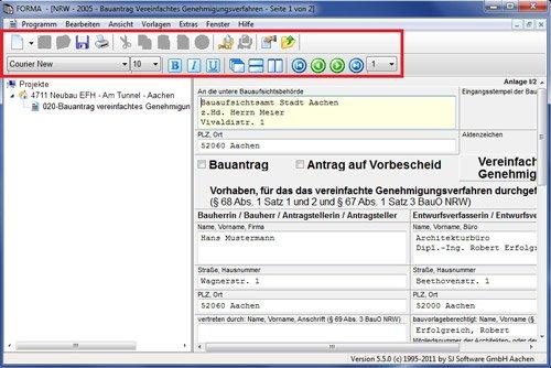 4. Produktbild SJ FORMA - Formularsoftware für Bauantrag / Baugenehmigung