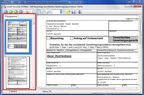 6. Produktbild SJ FORMA - Formularsoftware für Bauantrag / Baugenehmigung