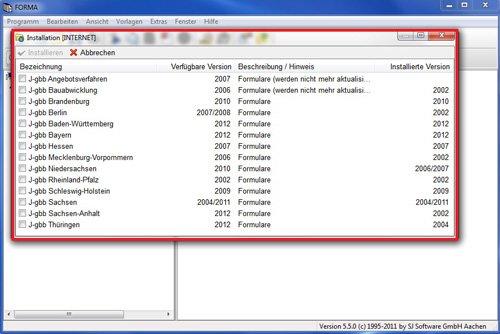 7. Produktbild SJ FORMA - Formularsoftware für Bauantrag / Baugenehmigung
