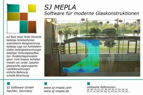 9. Produktbild - SJ MEPLA - Software für moderne Glaskonstruktionen