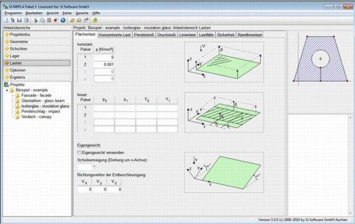 7. Produktbild - SJ MEPLA - Software für moderne Glaskonstruktionen